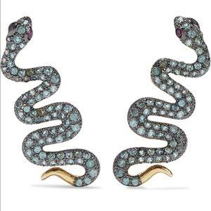 Noir Jewelry Serpent Creeper Earrings New